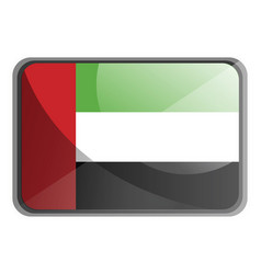 united arab emirates flag on white background vector image