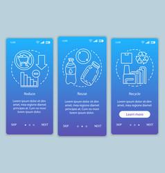 Waste management onboarding mobile app page vector