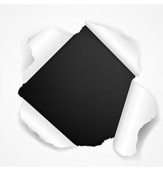 Black Torn vector image vector image