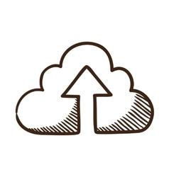 Cloud share symbol vector image