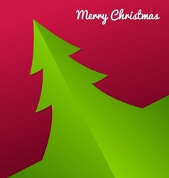 Fold Paper Christmas tree vector image