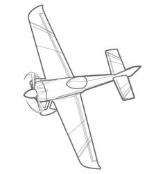 Outline sport plane vector