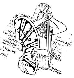 spartan vector image vector image