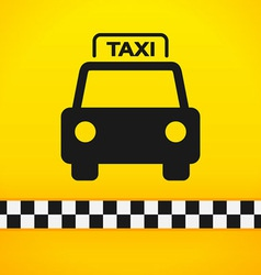 Taxi Cab Symbol on Yellow vector image