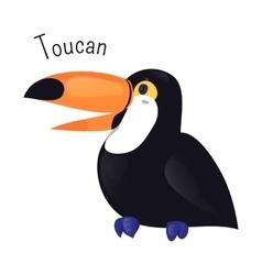 Toucan cartoon bird isolated on white vector image vector image