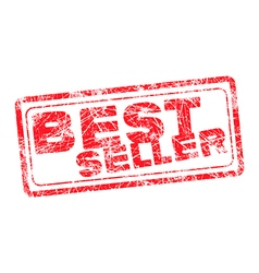 Best seller red grunge rubber stamp vector image