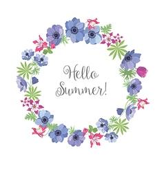 Floral frame summer greeting card design t-shirt vector