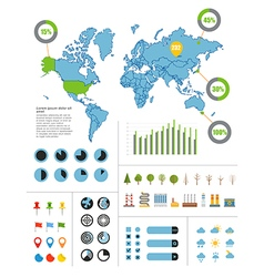 Infographics Earth map vector image vector image