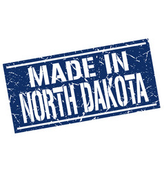 made in north dakota stamp vector image vector image