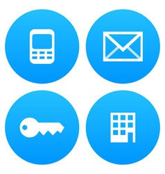 Mobile Email Key and Office vector image