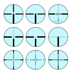 Set of different sights for weapons vector image