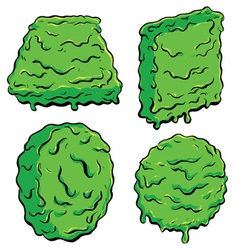 slimy Shapes vector image vector image