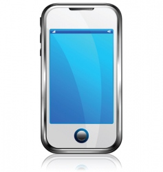 stylish silver cell phone vector image vector image