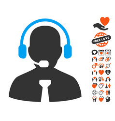 Support chat icon with lovely bonus vector