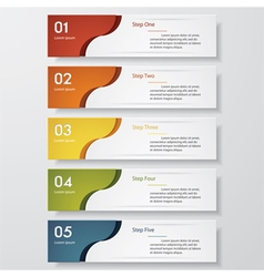 5 steps color banner template vector image vector image