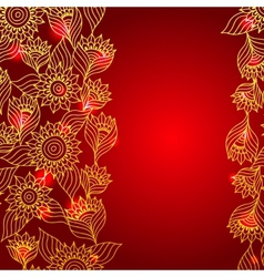 Floral red elegant lace ornament template vector image vector image