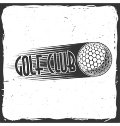 Golf club concept with ball silhouette vector image vector image