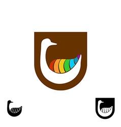 Goose logo vector image vector image