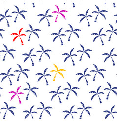 palm tree tropical seamless pattern vector image vector image