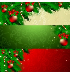 banner Christmas vector image vector image