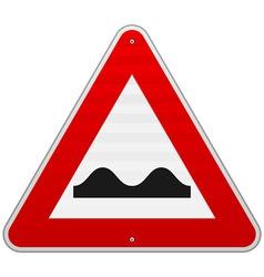 Bumpy Road Sign vector image