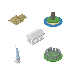 isometric attraction set of england new york vector image vector image