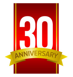 label for 30 years celebration vector image vector image