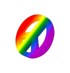 Pacific symbol in rainbow colors cartoon icon vector