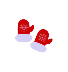 a christmas gloves with ornament of icon vector image