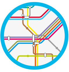 a colorful abstract subway metro map vector image