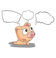 A pig with empty callouts vector image