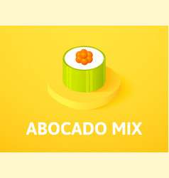 Abocado mix isometric icon isolated on color vector