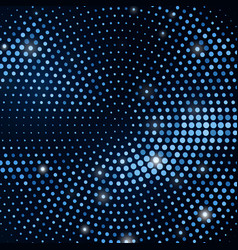 abstract black background with retro blue glitter vector image