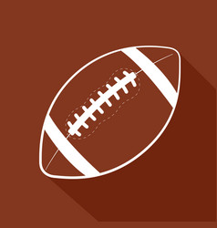 American football flat icon vector