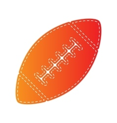 American simple football ball Orange applique vector image