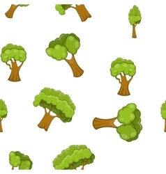 Arboreal plant pattern cartoon style vector