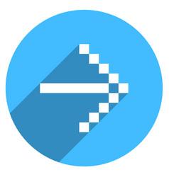 Arrow sign digital display circle icon vector