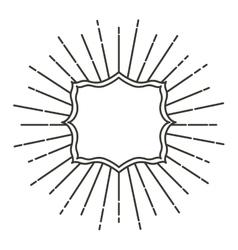 art deco style linear frame vector image