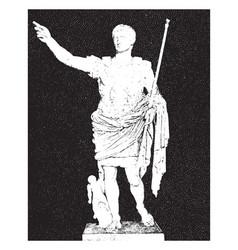 Augustus vintage vector