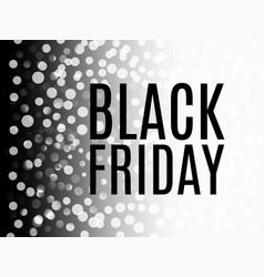 black friday sale advertising banner vector image