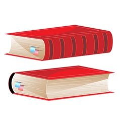 Books with bookmarks vector