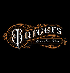 burgers lettering design vector image