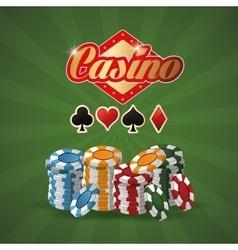 Chips casino las vegas game icon vector