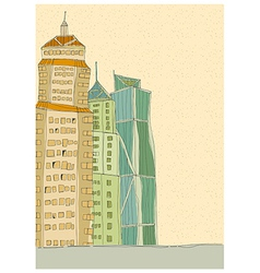 City Towers Drawing vector image vector image