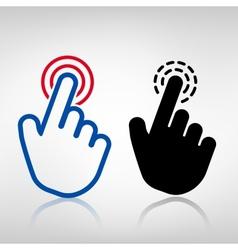 Click icon vector image