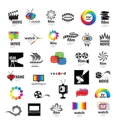 Collection logos tv video photo film vector