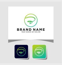 Colorful logo design letter b vector