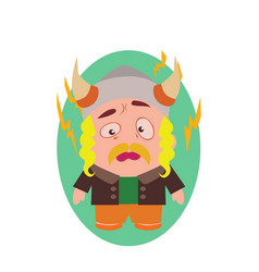 Cute cool and funny viking avatar of little vector