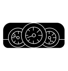 dashboard car icon black vector image