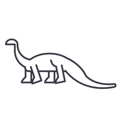 diplodocus line icon sign on vector image
